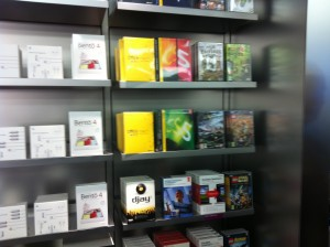 Boxed software on the Apple Store shelves
