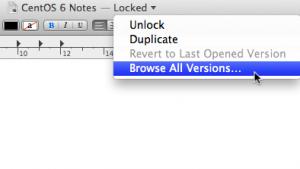 Lion 'Versions' feature screenshot